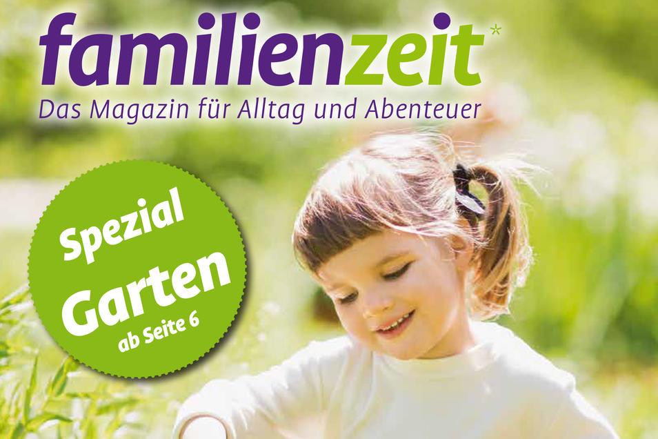 Die neue Ausgabe der Familienzeit gibt es ab sofort in Apotheken, bei Ärzten und in einigen Dresdner dm-Filialen. © Cover der Frühlings-Ausgabe der familienzeit
